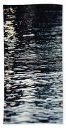 Lake Ripples In Blue At Sunset Beach Towel