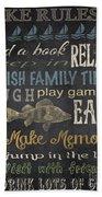 Lake Rules-relax Beach Towel