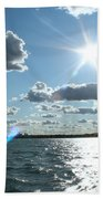 Lake St. Clair Sunset Beach Towel