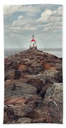 Lake Superior Light House Beach Towel