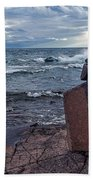 Show Me The Way - Lake Superior Rock Stack Beach Towel