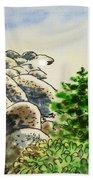 Lake Tahoe - California Sketchbook Project Beach Towel by Irina Sztukowski