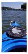 Lake View From Kayak Beach Towel