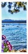 Lake View On Lake Tahoe By Diana Sainz Beach Towel