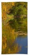 Lake Winona Autumn 13 Beach Towel