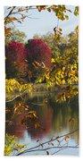Lake Winona Autumn 15 Beach Towel