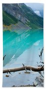 Lake With Canadian Rockies Beach Towel