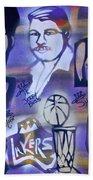 Lakers Love Jerry Buss 2 Beach Towel