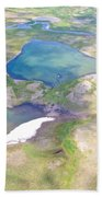 Lakes From The Seaplane In Katmai National Preserve-alaska Beach Towel