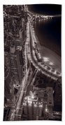 Lakeshore Drive Aloft Bw Warm Beach Sheet