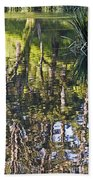 Lakeshore Reflections Beach Towel