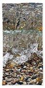 Lakeshore Rocks 4 Beach Towel