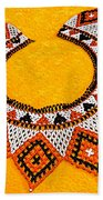 Lakota Souix Dance Collar Beach Towel
