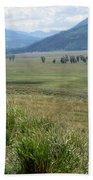 Lamar Valley Yellowstone National Park Beach Towel
