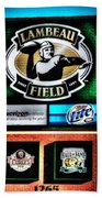 Lambeau Field Entrance Beach Towel