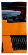 Lamborghini Rear View 2 Beach Sheet