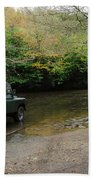 Landrover And The Ford  Beach Towel
