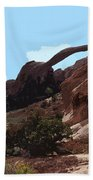 Landscape Arch In Arches National Park Beach Towel