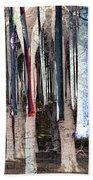 Landscape Forest Trees Beach Towel