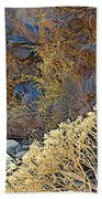 Landscape Of Big Painted Canyon Trail In Mecca Hills-ca Beach Towel