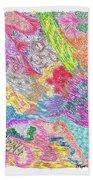 Landscape Of Color Beach Towel