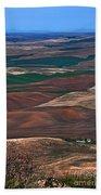 Landscape Of Rolling Farmland Steptoe Butte Washington Art Prints Beach Towel