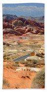 Landscape Of Valley Of Fire State Park Beach Towel