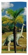 Landscape With Dinosaurs Beach Towel