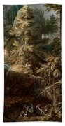 Landscape With The Temptation Of Saint Anthony Beach Towel
