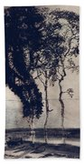 Landscape With Three Trees Beach Towel by Victor Hugo