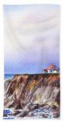 Lighthouse Point Arena California  Beach Towel