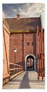 Landskrona Citadel In Sweden Beach Towel