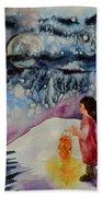 Lantern Festival Beach Towel