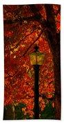 Lantern In Autumn Beach Towel