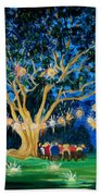 Lantern Tree Beach Towel