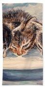 Lap Of Luxury Kittens Beach Towel