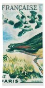 Lapwings Study Of Migration Museum Of Paris Beach Towel