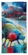 L'arbre Rouge Beach Towel