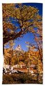Larches Frame Prusik Peak Beach Towel