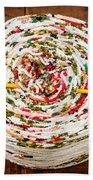 Large Ball Of Colorful Yarn Beach Towel