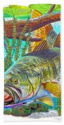 Largemouth Bass Beach Towel