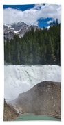 Larger View Of Wapta Falls In Yoho Np-bc Beach Towel