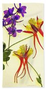 Larkspur And Columbine Beach Towel
