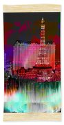 Las Vegas Bellagio Painting Beach Towel