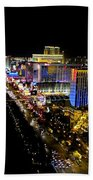 City - Las Vegas Nightlife Beach Towel