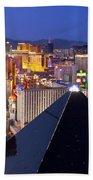 Las Vegas Skyline Beach Towel by Brian Jannsen