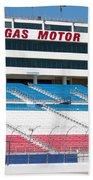 Las Vegas Speedway Grandstands Beach Towel