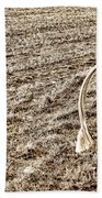 Lasso And Hat On Fence Post Beach Towel