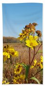 Last Blooms Before Fall Beach Towel