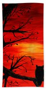 Last Leaves Of Autumn Beach Towel